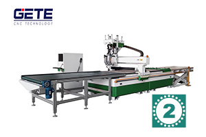 格特板式家具生产线——双工序加排钻视频2